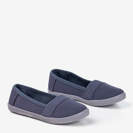 Ажурная слипа для девочек темно-серого цвета - на Nugas- Обувь