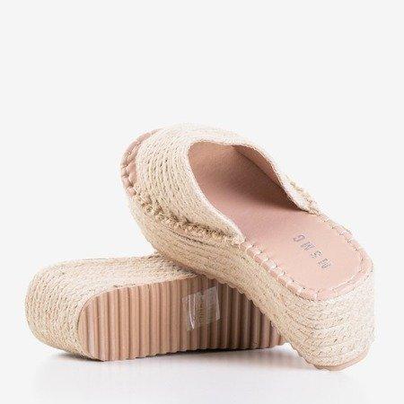 Бежевые сандалии на платформе Hlois - Обувь