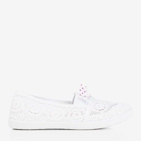 Белые кружевные детские балетки Samuel's - Обувь