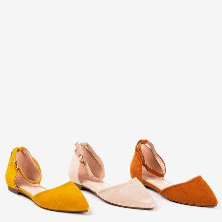 Горчичные балетки Mosla с острым носком - Обувь
