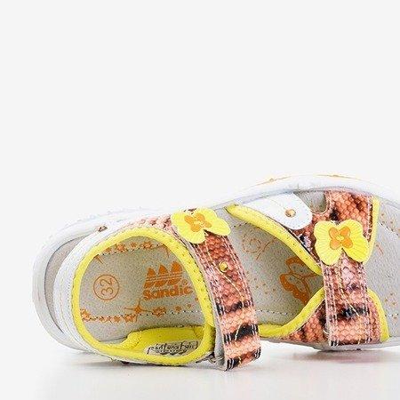 Детские сандалии Jamie Orange и Yellow - Обувь