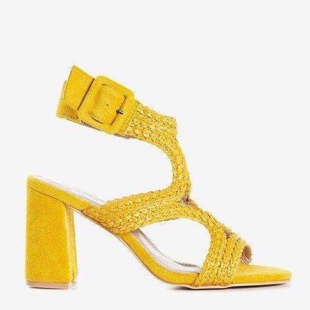 Желтые сандалии на более высоком столбике Viesia - Обувь