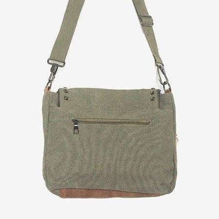 Женская декорированная сумка цвета хаки - Сумочки