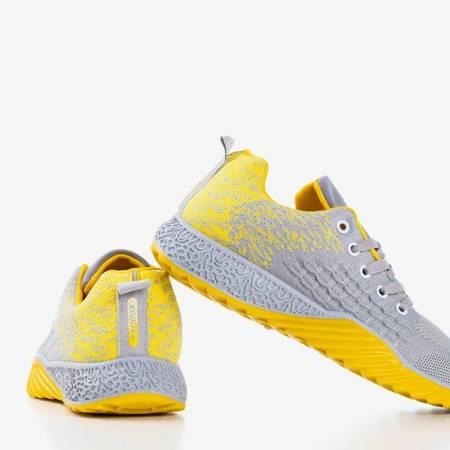 Женская спортивная обувь серого и желтого цвета Fonto - Обувь
