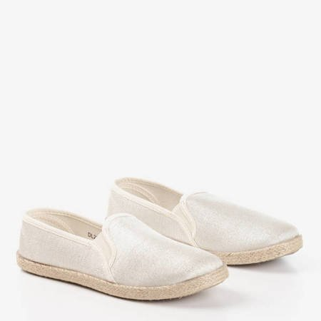 Женские бежевые эспадрильи с джутовым шнуром Kallos - Обувь