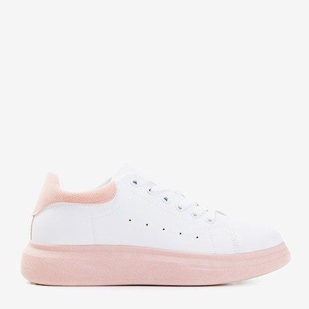 Женские белые спортивные туфли со вставками Gulio розового цвета - Обувь