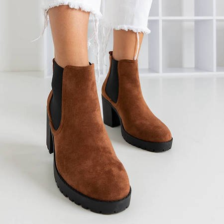 Женские ботильоны Umberto brown - обувь