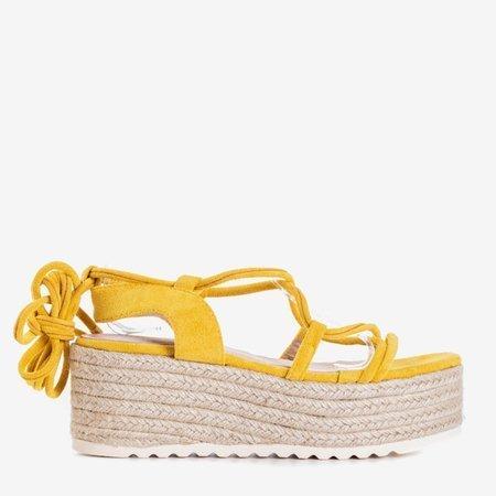 Женские горчичные сандалии на платформе Alvis - обувь