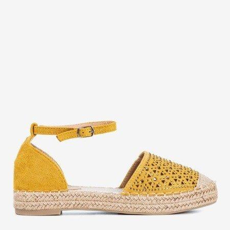 Женские желтые эспадрильи с ажурным декором Clia - Обувь