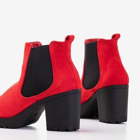 Женские красные женские ботильоны Umberto - Обувь