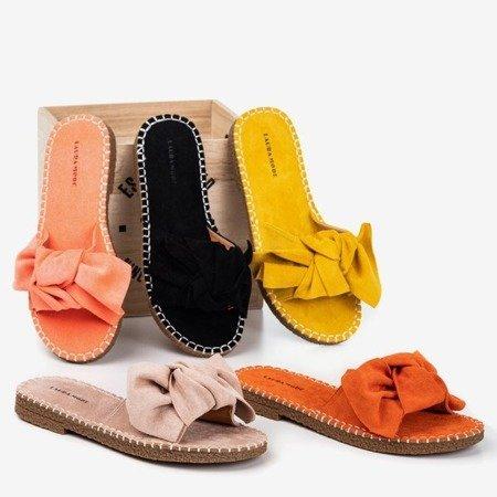 Женские сандалии горчичного цвета с бантом Latusa - Обувь