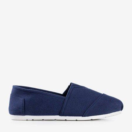 Женские синие мокасины слипоны Slavarina - Обувь