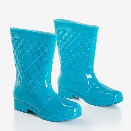 Женские синие полусапоги Muni - Обувь