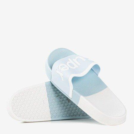 Женские синие тапочки с надписью Supera - Обувь