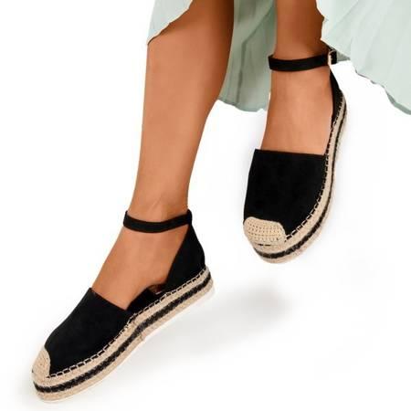 Женские черные сандалии на платформе Mora - Обувь