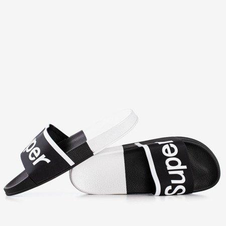 Женские черные сандалии с надписью Supera - Обувь