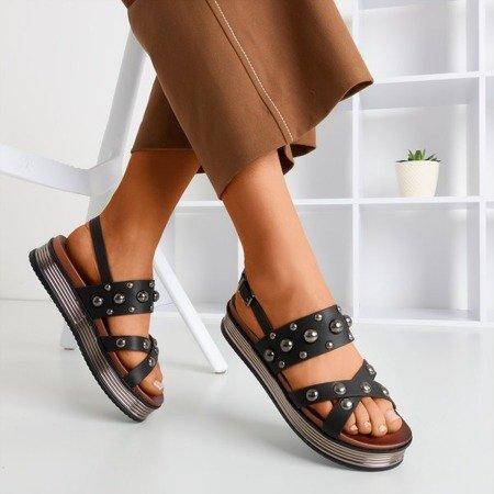 Женские черные сандалии с форсунками Solerina - Обувь