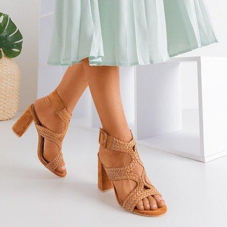 Коричневые сандалии на более высокой стойке Viesia - Обувь