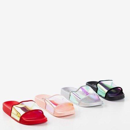 Красные тапочки с голографической полосой Blide - Обувь