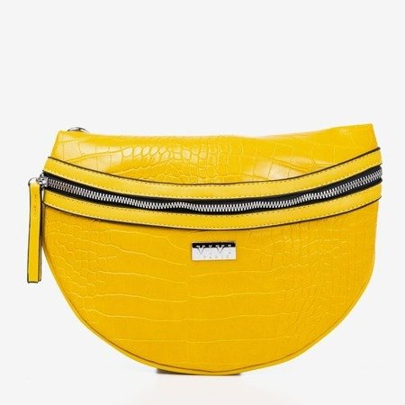 Маленькая желтая сумка для почки с тиснением животных - Сумки