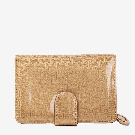Маленький лакированный женский кошелек в золоте - Кошелек