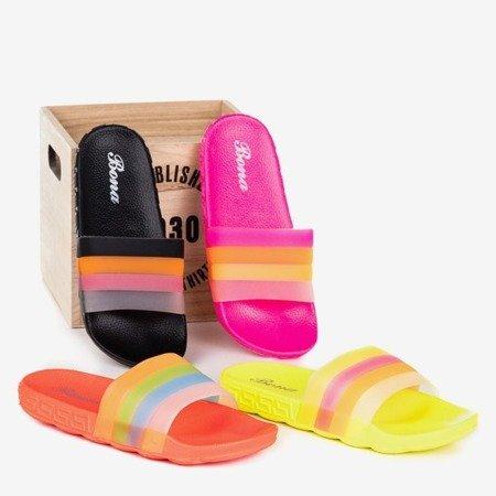 Неоново-оранжевые женские тапочки Florinda - Обувь