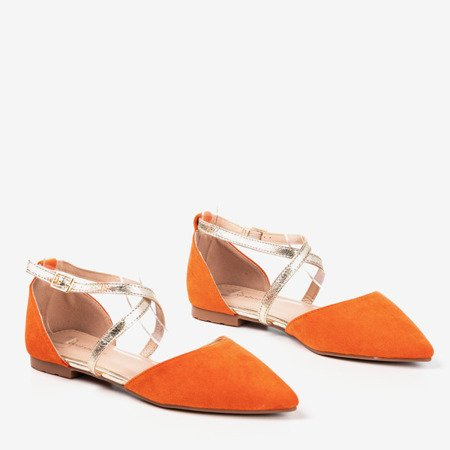 Оранжевые женские балетки на плоской подошве Vosia - Обувь