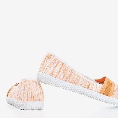 Оранжевые кроссовки слипоны в полоску Arimida - Обувь