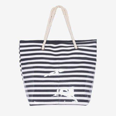 Пляжная сумка в черную полоску - Сумки