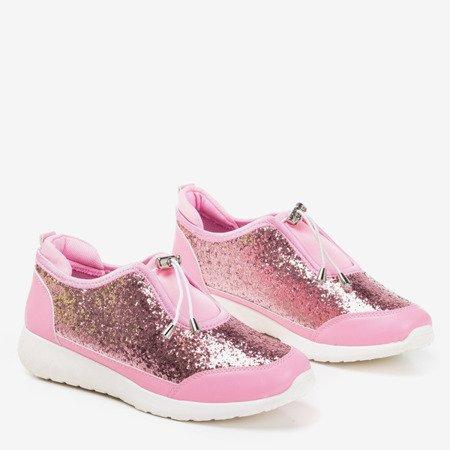 Розовая спортивная обувь Likera с блестками - Обувь