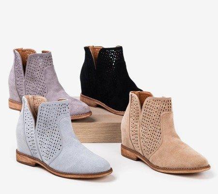 Светло-коричневые ботильоны a'la ковбойские сапоги Besis - Обувь
