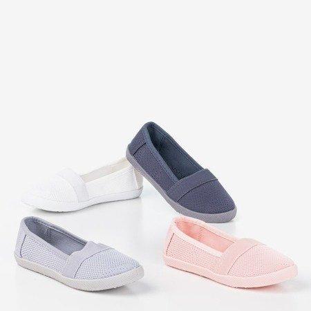 Светло-серая ажурная слипа для девочек - на Nugas- Обувь
