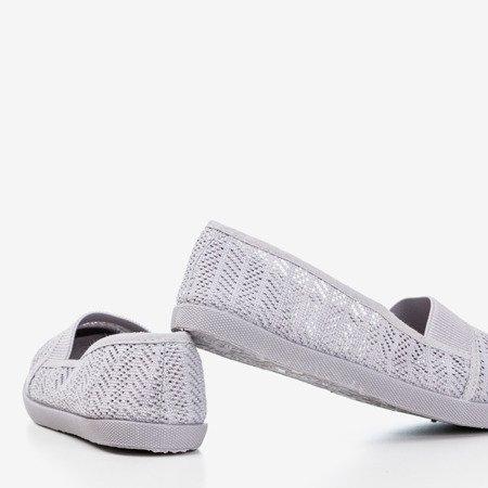 Серая женская ажурная комбинация - на Heyan - Обувь