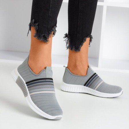 Серые женские спортивные туфли-лодочки - на Sweet Rainbow - Обувь