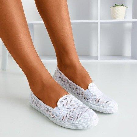 Слипоны женские белые - на Hessani - Обувь