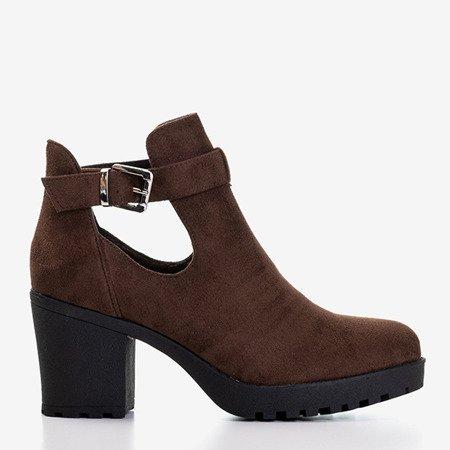 Темно-коричневые ботинки с вырезами Barra - Обувь