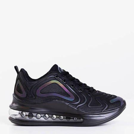 Черная женская спортивная обувь с прозрачной подошвой Fusion - Обувь