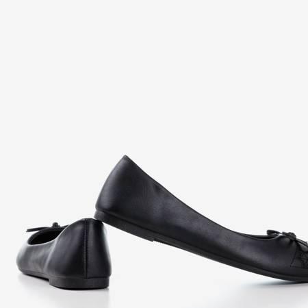 Черные женские балетки из экокожи Dafna - Обувь