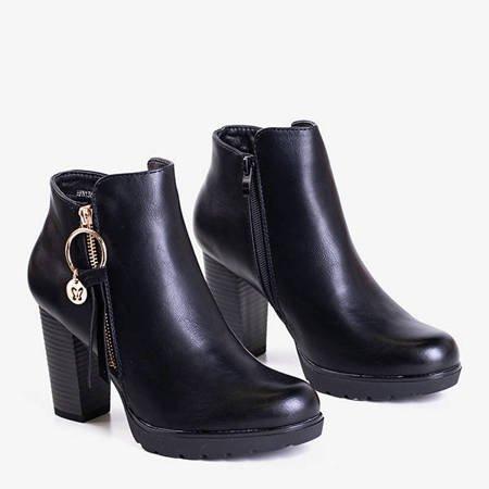 Черные женские ботильоны из экокожи Bekhof - Обувь