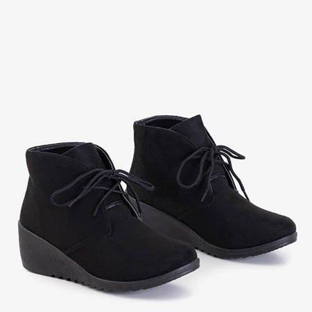 Черные женские сапоги на танкетке от Satomi - Обувь