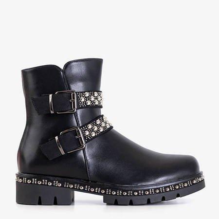 Черные женские сапоги с декоративной полоской Hutimo - Обувь