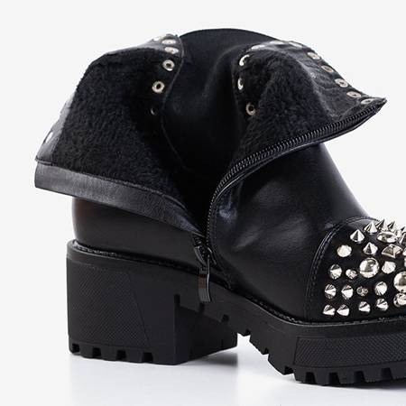 Черные женские сапоги, украшенные заклепками Jovita и форсунками - Обувь