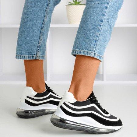 Черные и белые женские кроссовки Feel Fantastic - Обувь