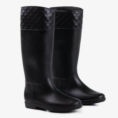 Черные матовые резиновые сапоги Radik - Обувь