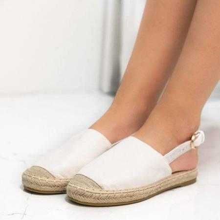 Эспадрильи из белой кожи - эко с открытым каблуком Daisy - Обувь