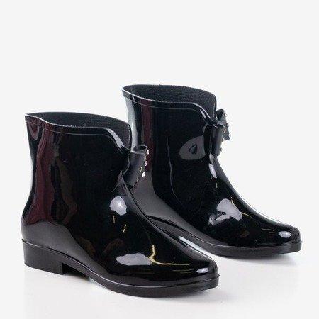 женские черные резиновые сапоги с бантом Maiya - Обувь