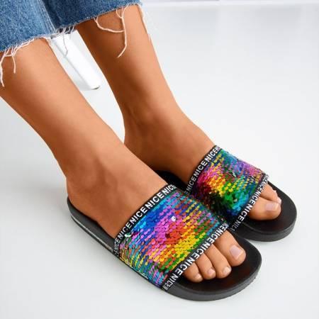 тапочки Egesta с разноцветными пайетками - Обувь