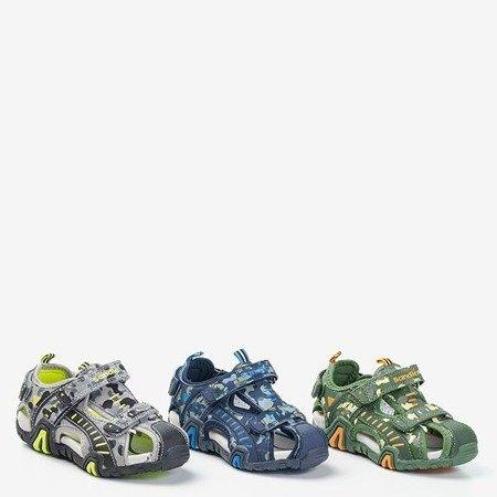 темно-синие камуфляжные сандалии для мальчиков Berti - Обувь