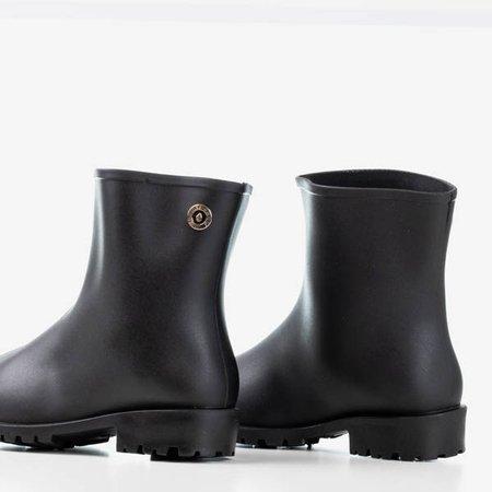 черные матовые резиновые сапоги для женщин - Обувь