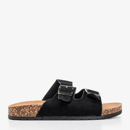 OUTLET Женские тапочки черные с блестками Salala - Обувь